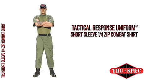 TRU SHORT SLEEVE 1/4 ZIP COMBAT SHIRT