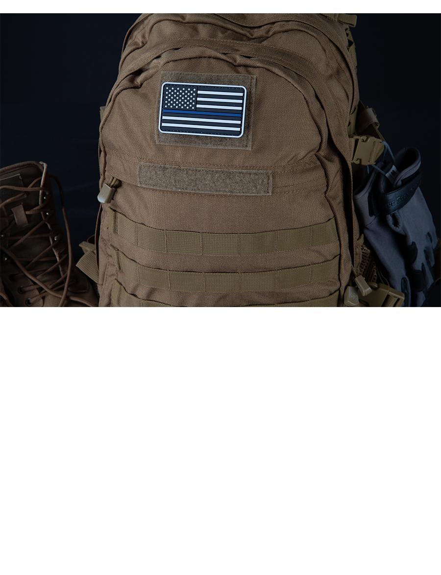 U.S. FLAG GREY W/BLUE STRIPE MORALE PATCH