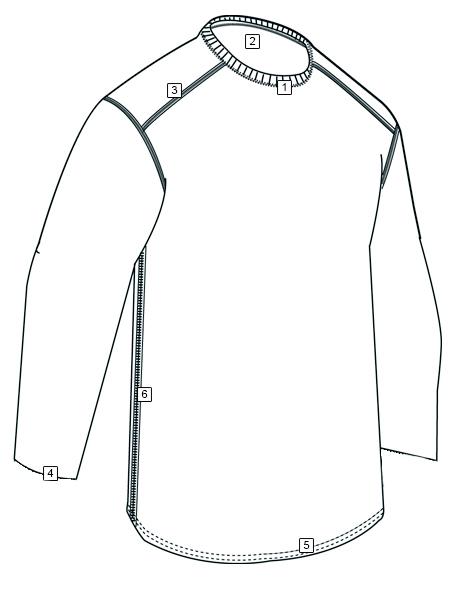 CORDURA® BASELAYER CREW NECK LONG SLEEVE SHIRTS