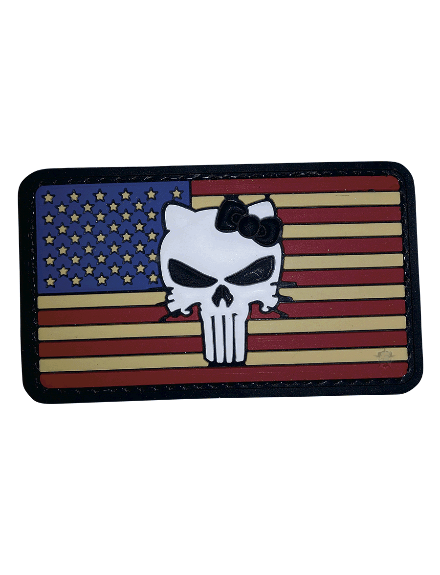 VINTAGE FLAG KITTY MORALE PATCH