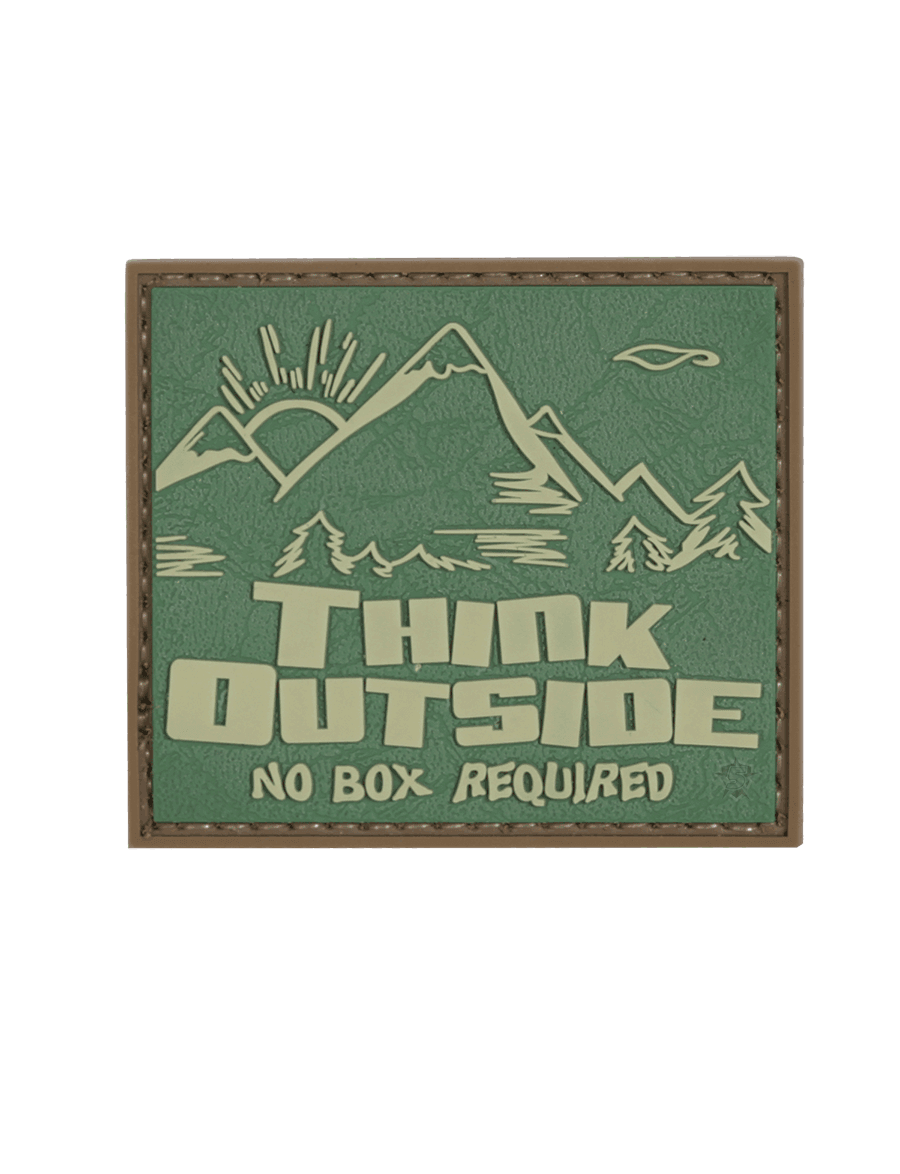 THINK OUTSIDE, NO BOX REQUIRED MORALE PATCH