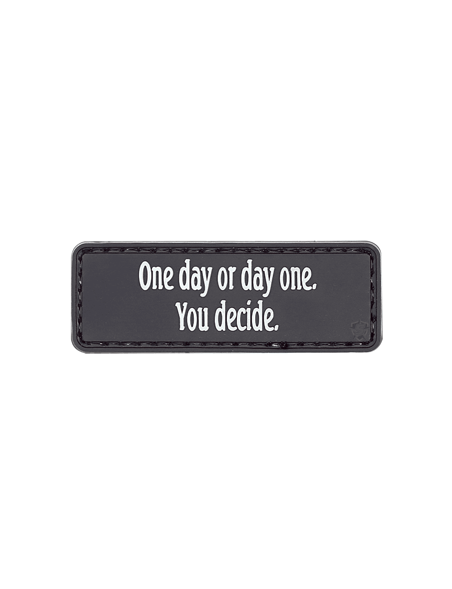 ONE DAY OR DAY ONE MORALE PATCH